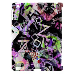 Chaos With Letters Black Multicolored Apple Ipad 3/4 Hardshell Case (compatible With Smart Cover) by EDDArt
