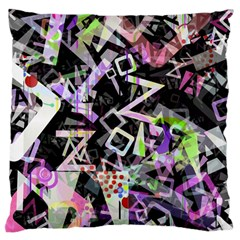 Chaos With Letters Black Multicolored Large Cushion Case (one Side) by EDDArt