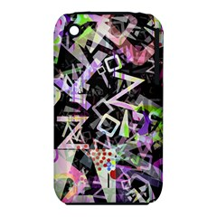 Chaos With Letters Black Multicolored Iphone 3s/3gs by EDDArt