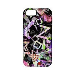 Chaos With Letters Black Multicolored Apple Iphone 5 Classic Hardshell Case (pc+silicone) by EDDArt