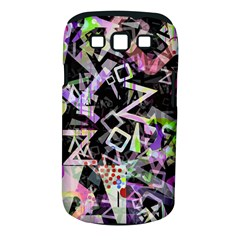 Chaos With Letters Black Multicolored Samsung Galaxy S Iii Classic Hardshell Case (pc+silicone) by EDDArt