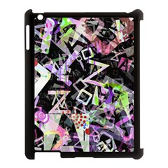 Chaos With Letters Black Multicolored Apple Ipad 3/4 Case (black) by EDDArt