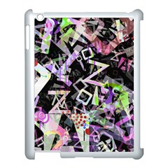 Chaos With Letters Black Multicolored Apple Ipad 3/4 Case (white) by EDDArt