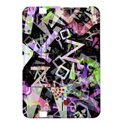 Chaos With Letters Black Multicolored Kindle Fire Hd 8 9  by EDDArt
