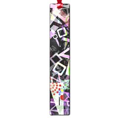 Chaos With Letters Black Multicolored Large Book Marks by EDDArt