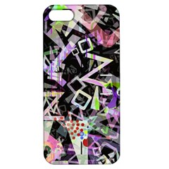 Chaos With Letters Black Multicolored Apple Iphone 5 Hardshell Case With Stand by EDDArt
