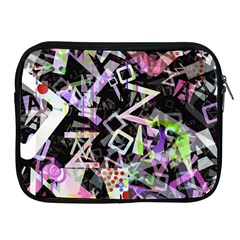 Chaos With Letters Black Multicolored Apple Ipad 2/3/4 Zipper Cases by EDDArt