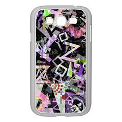 Chaos With Letters Black Multicolored Samsung Galaxy Grand Duos I9082 Case (white) by EDDArt