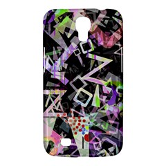 Chaos With Letters Black Multicolored Samsung Galaxy Mega 6 3  I9200 Hardshell Case by EDDArt