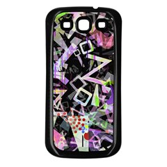 Chaos With Letters Black Multicolored Samsung Galaxy S3 Back Case (black) by EDDArt