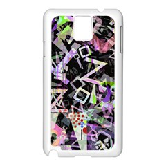 Chaos With Letters Black Multicolored Samsung Galaxy Note 3 N9005 Case (white) by EDDArt