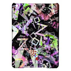 Chaos With Letters Black Multicolored Ipad Air Hardshell Cases by EDDArt