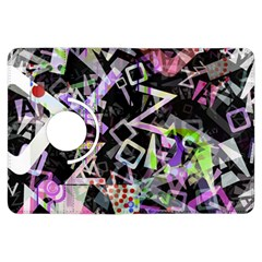 Chaos With Letters Black Multicolored Kindle Fire Hdx Flip 360 Case by EDDArt