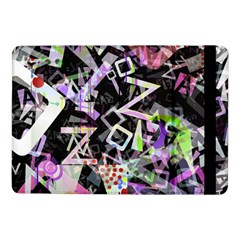 Chaos With Letters Black Multicolored Samsung Galaxy Tab Pro 10 1  Flip Case by EDDArt