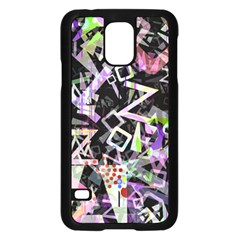 Chaos With Letters Black Multicolored Samsung Galaxy S5 Case (black) by EDDArt