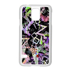 Chaos With Letters Black Multicolored Samsung Galaxy S5 Case (white) by EDDArt