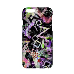 Chaos With Letters Black Multicolored Apple Iphone 6/6s Hardshell Case by EDDArt