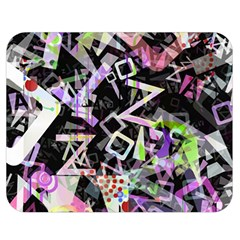 Chaos With Letters Black Multicolored Double Sided Flano Blanket (medium)  by EDDArt