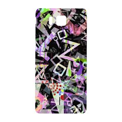 Chaos With Letters Black Multicolored Samsung Galaxy Alpha Hardshell Back Case by EDDArt
