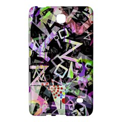 Chaos With Letters Black Multicolored Samsung Galaxy Tab 4 (7 ) Hardshell Case  by EDDArt