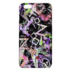 Chaos With Letters Black Multicolored Iphone 6 Plus/6s Plus Tpu Case by EDDArt