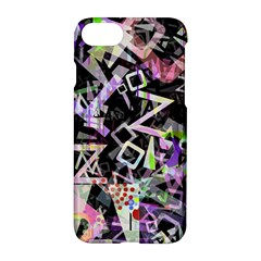 Chaos With Letters Black Multicolored Apple Iphone 7 Hardshell Case by EDDArt
