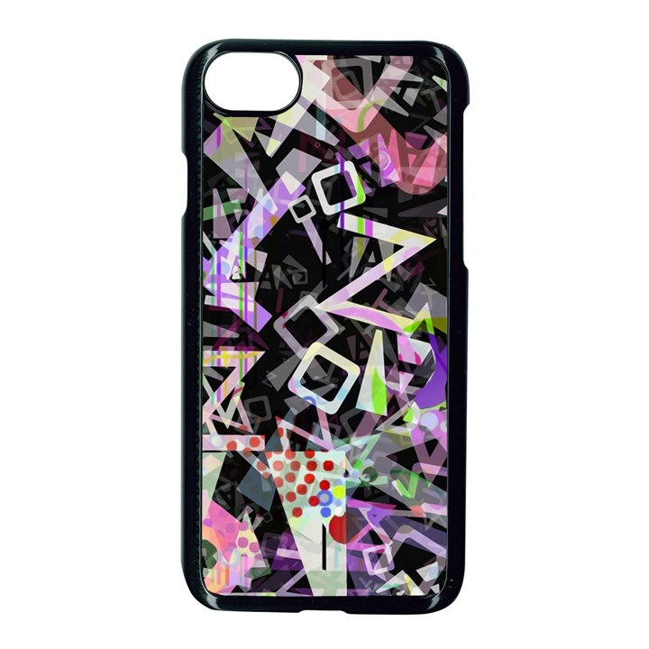 Chaos With Letters Black Multicolored Apple iPhone 7 Seamless Case (Black)