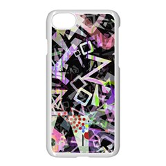 Chaos With Letters Black Multicolored Apple Iphone 7 Seamless Case (white) by EDDArt