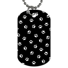 Footprints Cat White Black Dog Tag (two Sides) by EDDArt