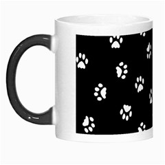 Footprints Cat White Black Morph Mugs by EDDArt