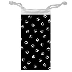 Footprints Cat White Black Jewelry Bag by EDDArt