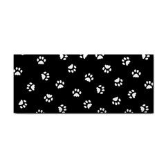Footprints Cat White Black Cosmetic Storage Cases by EDDArt