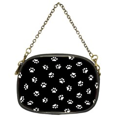 Footprints Cat White Black Chain Purses (one Side)  by EDDArt