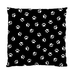 Footprints Cat White Black Standard Cushion Case (two Sides) by EDDArt