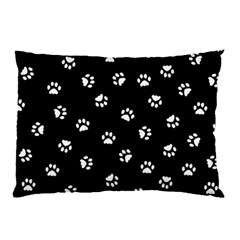 Footprints Cat White Black Pillow Case by EDDArt