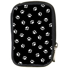 Footprints Cat White Black Compact Camera Cases by EDDArt