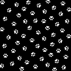 Footprints Cat White Black Magic Photo Cubes by EDDArt