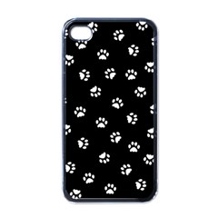 Footprints Cat White Black Apple Iphone 4 Case (black) by EDDArt