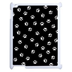 Footprints Cat White Black Apple Ipad 2 Case (white) by EDDArt