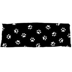 Footprints Cat White Black Body Pillow Case (dakimakura) by EDDArt