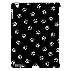 Footprints Cat White Black Apple Ipad 3/4 Hardshell Case (compatible With Smart Cover) by EDDArt
