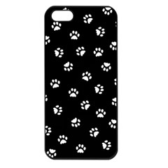 Footprints Cat White Black Apple Iphone 5 Seamless Case (black) by EDDArt