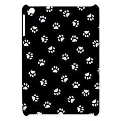 Footprints Cat White Black Apple Ipad Mini Hardshell Case by EDDArt