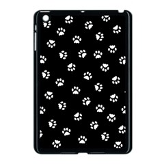 Footprints Cat White Black Apple Ipad Mini Case (black) by EDDArt