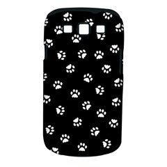 Footprints Cat White Black Samsung Galaxy S Iii Classic Hardshell Case (pc+silicone) by EDDArt