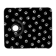 Footprints Cat White Black Galaxy S3 (flip/folio) by EDDArt