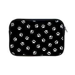 Footprints Cat White Black Apple Ipad Mini Zipper Cases by EDDArt