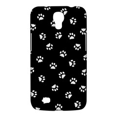 Footprints Cat White Black Samsung Galaxy Mega 6 3  I9200 Hardshell Case by EDDArt