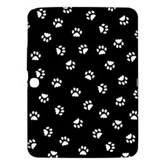 Footprints Cat White Black Samsung Galaxy Tab 3 (10 1 ) P5200 Hardshell Case  by EDDArt