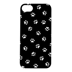 Footprints Cat White Black Apple Iphone 5s/ Se Hardshell Case by EDDArt